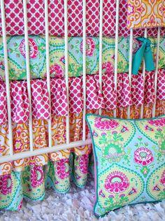 Lily Pad Baby Bedding 3 pc bedding set by CadenLaneBabyBedding My Baby Girl, Our Baby, Baby Girls, Crib Bedding Sets, Baby Bedding, Nursery Bedding, Girl Nursery, Nursery Ideas, Nursery Art