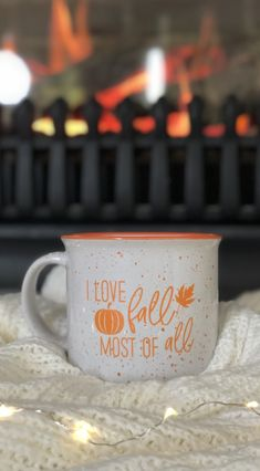 This is my favorite fall quote because I love fall most of all! This is going to be my new fall mug! #fall #falldecor #autumn #autumndecor #coffee #coffeemugs #fallmug #fallquote #ilovefallmostofall
