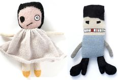 Meet Bad Eye Lily and Chimney Jim…crazy (but in a good way)  Handmade dolls from LuckyBoySunday