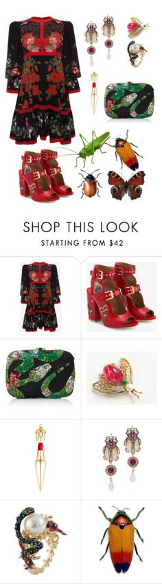 """""""In the garden"""" by just-a-dizzy-lizard ❤ liked on Polyvore featuring Alexander McQueen, Laurence Dacade, Cult Gaia, Jelly Belly, Christian Louboutin and Les Néréides"""