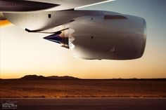 Lufthansa B747-800 engine