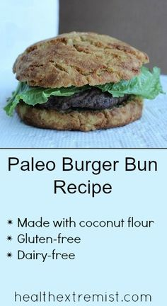 Paleo Burger Buns Made with Coconut Flour