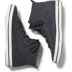Keds KICKSTART HI WOOL ($60) ❤ liked on Polyvore featuring shoes, sneakers, charcoal, wool sneakers, keds, keds shoes, charcoal shoes and flexible shoes