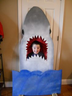 Shark for pictures at grandson's birthday party.