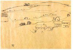 egon schiele landscape drawings - Google Search