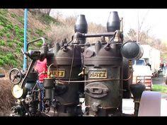 Hatz Gasmotor mit Steinbrecher - stationary engine with rock crusher