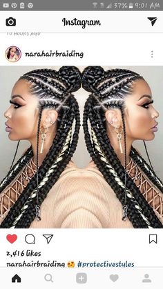 African usual hairstyles Cute Fulani braids are in trend. We bring you this latest inspirational fulani braids that you will adore to wear. Box Braids Hairstyles, African Hairstyles, Girl Hairstyles, Black Hairstyles, Hairstyles 2016, Hairstyle Braid, Trendy Hairstyles, Alicia Keys Hairstyles, Braided Ponytail Hairstyles