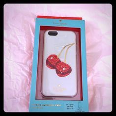 Kate Spade embellished cherry iPhone 6/6s case Kate Spade resin iPhone 6/6s case with bling cherries  kate spade Accessories Phone Cases