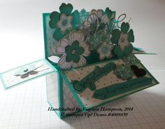 Card In A Box using the lovely floral punches by Stampin Up, and the Expressions Thinlits which are in the Clearance Wrack right now, don't miss out on those dies!  https://www.facebook.com/StampOutYourArtWithVirginia