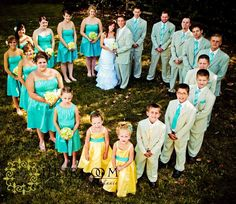 bridal party. I dunno if this is possible with such a liddle wedding party. http://www.planningwedding.net/
