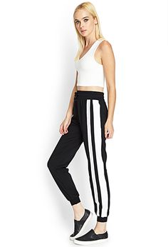 Mesh Paneled Track Pants | FOREVER21 - 2000084923