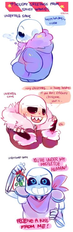 Sans - AU - Underfell and Underswap - Christmas