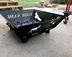 Don't buy a fire pit from the big box store. Buy a fire pit that is personal and that is built to last! Send an inquiry to order your own custom-built fire pit. Fire Pit Sphere, Fire Pit Art, Wood Fire Pit, Steel Fire Pit, Wine Barrel Fire Pit, Diy Outdoor Fireplace, Backyard Fireplace, Backyard Patio, Backyard Landscaping
