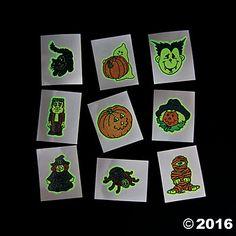 Glow-in-the-Dark Halloween Tattoos