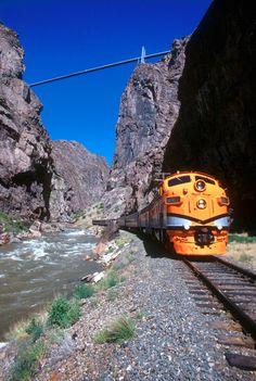 Royal Gorge in Canon City , Colorado!. Love that train