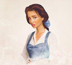 """So könnte also Belle aus """"Die Schöne und das Biest"""" aussehen. Viel Ähnlichkeit mit ihrem Disney-Vorbild ist in der Variante von Jirka Väätäinen nicht mehr übrig und doch erkennt man den hübschen Disney Charakter recht schnell."""