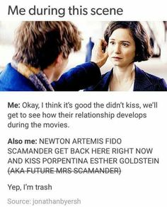 this was me exactly.  Newt is so cute and awkward tho he probably would have fainted if he kissed her.