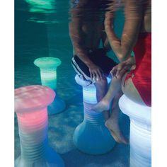 Illuminated In Pool Barstool