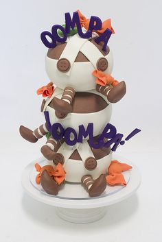 Oompa Loompa Cake ~ too cute!