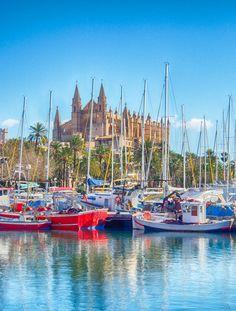 Die Kathedrale La Seu ist das Wahrzeichen von Palma de Mallorca. Antoni Gaudí, der Begründer des katalanischen Modernisme, wirkte von 1904 bis 1914 an der Renovierung des Sakralbaus mit. (Foto: iStock/Josep Bernat Sànchez Moner)