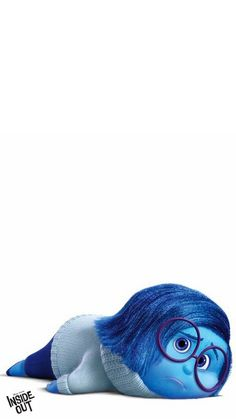 """Looks like Sadness could use a hug! Disney Pixar""""s Inside Out, gives us a groundbreaking peek into kids"""" inner emotional worlds.  Bring it home on Disney Movies Anywhere Oct 13 and on Blu-ray Nov 3."""