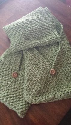 This scarf with pockets was fun to make.