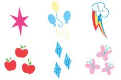 cutie marks face painting symbols