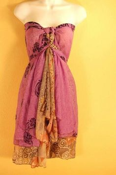 "Wrap Dress Magic Skirt 36"" Chiffon Maternity Multi Wear Sarong Pareo Long #maternitydresssummer"