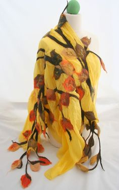 Nunofelted scarf by Angellum1 on Etsy, $65