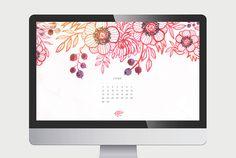 Calendario Junio de Oana Beafort descargable >> Desktop June Calendar 2014