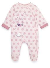 Baby Girl's Bunny All-in-one