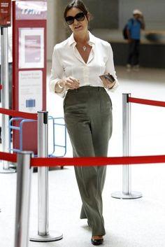 Luiza Brunet no aeroporto Santos Dumont:
