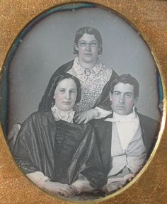 Sixth plate daguerreotype of three young adults, possibly a brother and sisters, this image is still sealed and in excellent condition, full case has typical wear and a weak hinge but remains intact. | eBay!