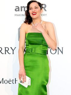 Star Tracks: Friday, May 22, 2015 | WHAT A GEM | As does Marion Cotillard, glowing in her green.