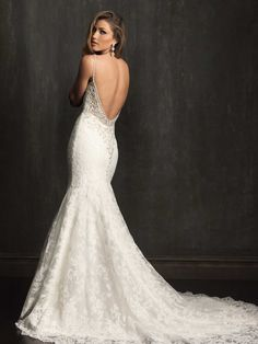 Allure Bridals 9060 Low Back Wedding Dress