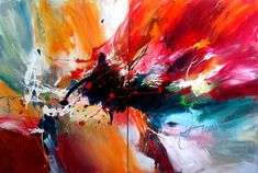 "Dan Bunea's large living abstract painting ""The Incredible Journey"" 2012 • acrylics on canvas"
