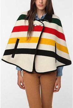 ummmm... SO cute. pendleton cape.