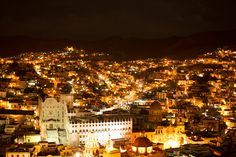 night view of Guanajuato, Mexico