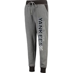 New York Yankees Concepts Sport Recruit Jogger Pants - Heathered Gray - $36.99