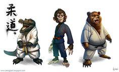 Judo+animals by Toramarusama on DeviantArt