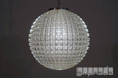 Heavy Peil Putzler Gangkofner Geometric Clear Glass Lamp Mid Century HL 79 | eBay