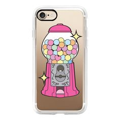 Take a Chance - Gumball Machine - Pink - iPhone 7 Case, iPhone 7 Plus... (130 BRL) ❤ liked on Polyvore featuring accessories, tech accessories, iphone case, iphone cases, iphone hard case, apple iphone cases, iphone cover case and pink iphone case