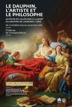 Le Dauphin, l'artiste et le philosophe au Château de Fontainebleau. Affiche