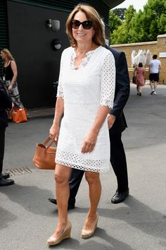 Wimbledon 2018: All the celebrity style- Carole Middleton in white eyelet dress