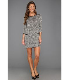 Brigitte Bailey Kina Dress Black Twist - Zappos.com