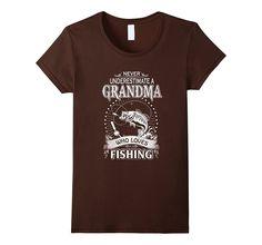 N- Never Underestimate A Grandma Who Loves Fishing T-Shirt