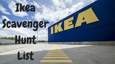 If you're planning a trip to Ikea with a group of people, here's a printable list of 20 funny tasks you can use as part of a scavenger hunt