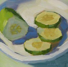 "michael chamberlain: ""Cucumber Slices"" - SOLD"