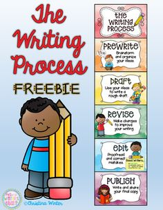 The Writing Process FREEBIE! These writing process printables can be used as an anchor chart or clip chart in your classroom. Perfect for teaching the stages of the writing process! See ideas on how to use this on my BLOG POST