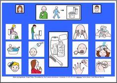 MATERIALES - Tableros de Comunicación de 12 casillas.    Tablero de comunicación de doce casillas sobre el aseo.     http://arasaac.org/materiales.php?id_material=224